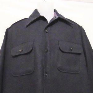 CPO ARROW Vintage 50s 60s Shirt Jacket Navy Heavy